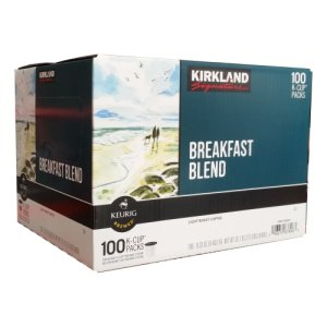 Kirkland Breakfast Blend Light Roast K Cups 120 Ct