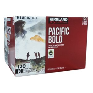 Kirkland Pacific Bold Dark Roast Extra Bold K Cups 120 ct