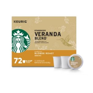 Starbucks Veranda Blend Coffee K-Cups 72 Ct